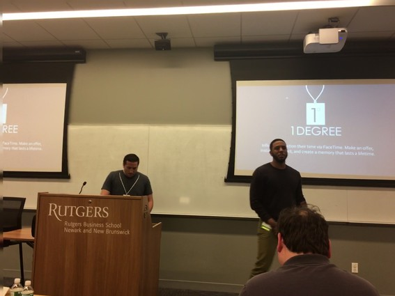 Photo: 1Degree founders present at at January BullPen. Photo Credit: Esther Surden