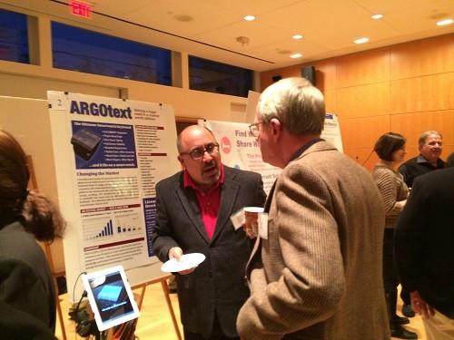 Photo: Mark Schaffer discusses ARGOtext. Photo Credit: Esther Surden