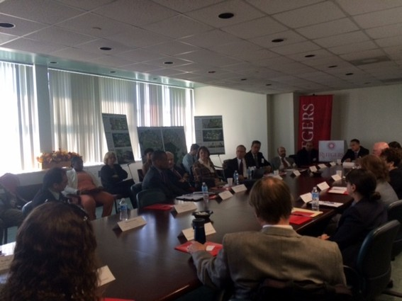 Photo: A working group discussed the larger implications of Innovation Park@Rutgers. Photo Credit: Esther Surden