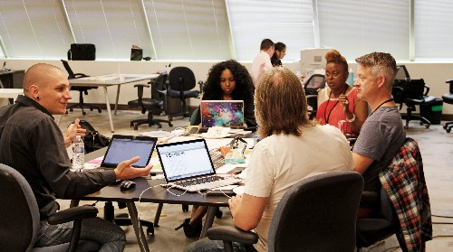 Photo: Team working during the LSM NJ event. Photo Credit: Courtesy TigerLabs