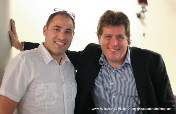 Photo: Peter Shankman with Aaron Price, founder of NJ Tech Meetup Photo Credit: Courtesy: Danny@Customphotoshoot.com