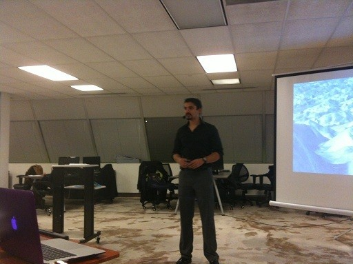 Photo: Success coach Akshay Nanvati gives some tips on how businesses can keep New Years resolutions at the NJ Entrepreneurs and Technology Startup meetup Photo Credit: Esther Surden