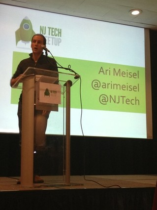 Photo: Efficiency expert Ari Meisel spoke at the NJ Tech Meetup in February. Photo Credit: Christine Curatolo