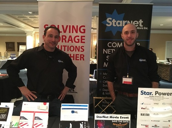 Photo: The Starnet Solutions booth. Starnet is a networking company in Sea Girt. Photo Credit: Esther Surden