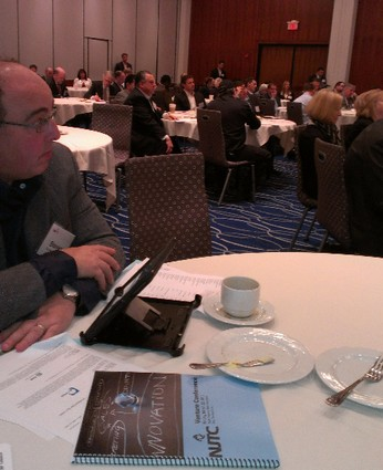 Photo: Participants listen to speakers at the NJTC Venture Conference. Photo Credit: Laurie Petersen