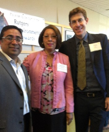 Photo: From L to R: Amit Chhabra, Founder and President, TranSend IT; Isabel Thompson, Coordinating Manager of the Burlington County College High Technology and Science Incubator; and Yaron Avitov, CEO, GoldTeir Photo Credit: Laurie Petersen
