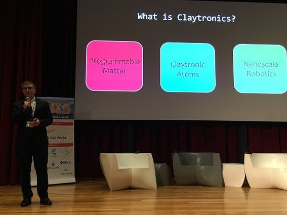 Photo: Michael Abelar delved into the world of claytronics. Photo Credit: Esther Surden