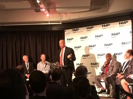 Photo: Senator Cory Booker was on-hand to help kick off the Newark Venture Fund. Photo Credit: Esther Surden