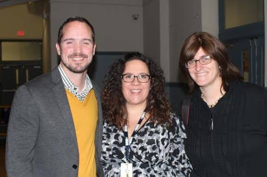 Photo: L-R Matt Wade, Dominique Tornabe and teacher Mira Septimus Photo Credit: Courtesy HOPES CAP