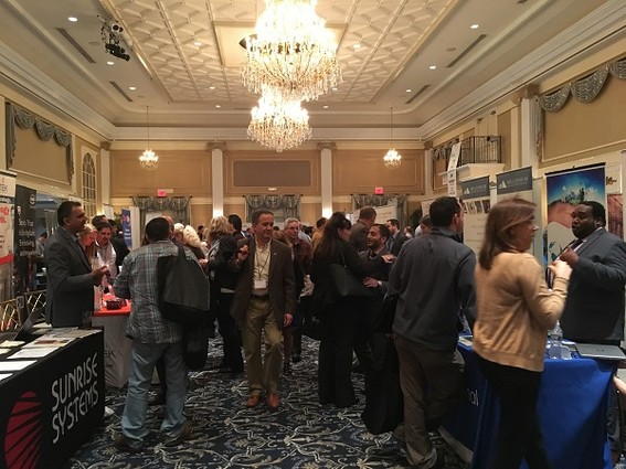 Photo: Crowded exhibit space at NJ-GMIS Tech Education Conference 2017. Photo Credit: Esther Surden