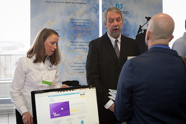 Photo: D-3 United Communications had a booth at the NJTC Venture Conference earlier this year. Photo Credit: Courtesy NJTC