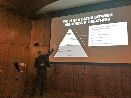 Photo: Daniel Cherry III spoke at Scarlet Startups in January. Photo Credit: Esther Surden