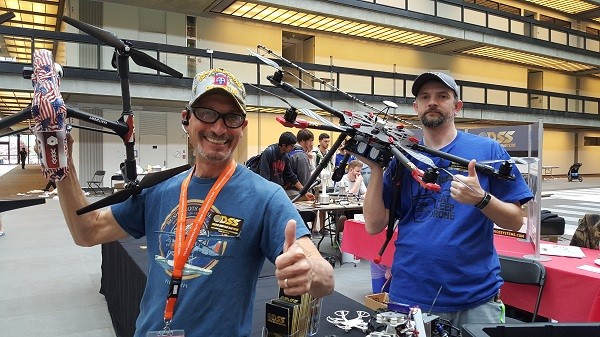 Photo: The folks from Drone Service Systems in Clark at Building S.T. E. A. M. Photo Credit: Bari Faye Siegel