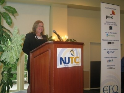 Photo: Eileen Martinson CEO of Sparta Systems delivered the keynote at the NJTC CFO Awards Breakfast in June. Photo Credit: NJTC