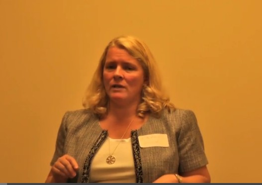 Photo: Elizabeth Gearhart hosted the new meetup for women entrepreneurs. Photo Credit: Andrew Hines