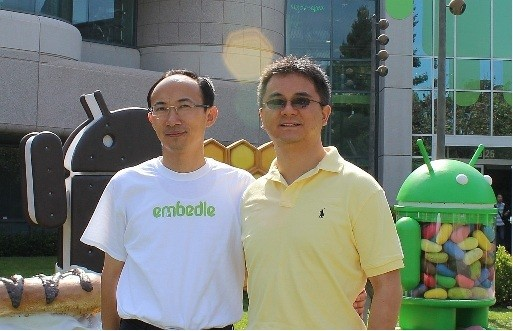 Photo: Embedle cofounders Fei Deng and Daoliang Yang have developed a