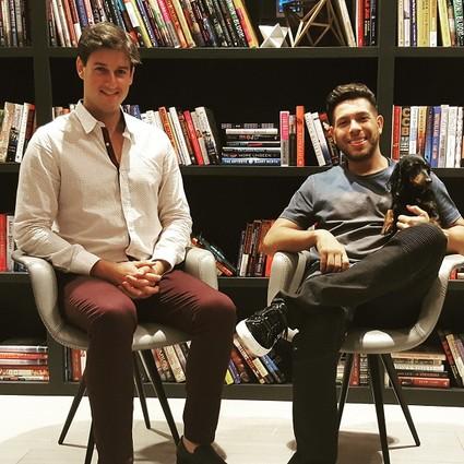 Photo: Jordan French with Gerard Adams, both of Fownders Photo Credit: Alyssa Yannuzzi