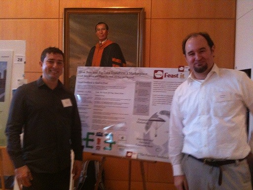 Photo: Alan Potosnak and David Tulloss present their poster. Photo Credit: Esther Surden