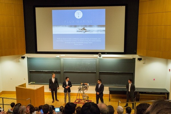 Photo: Flux Marine making its pitch Photo Credit: Kelsey Armstrong