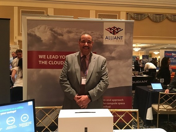 Photo: Former N.J. State CIO Steve Emanuel represents Alliant Technologies. Photo Credit: Esther Surden