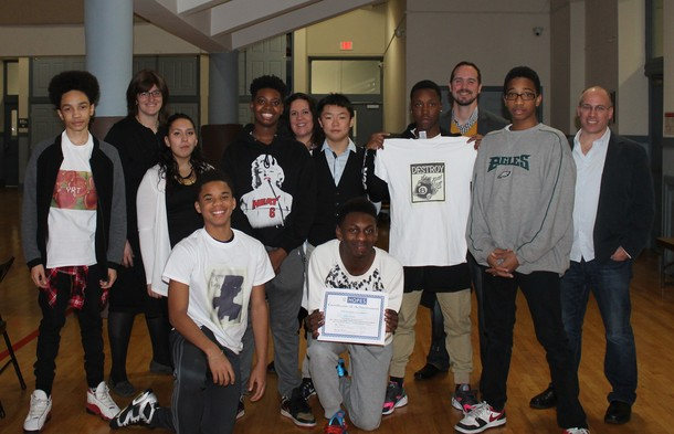 "Photo: Students, teachers and volunteers from the ""Like a Boss"" program. Photo Credit: Courtesy HOPES CAP"