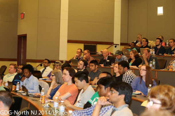 Photo: The audience at Google I/O Extended NJ conference. Photo Credit: L. Pace