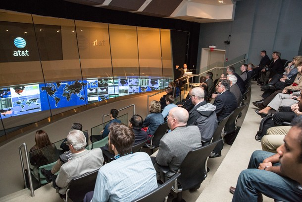 Photo: Attendees were treated to a discussion of advancements by ATT at the event and a tour of the Global Network Operations Center in Bedminster. Photo Credit: Hal Brown