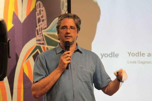 Photo: Louis Gagnon of Yodle gave the keynote at the NJETS June Meetup. Photo Credit: NJETS Meetup