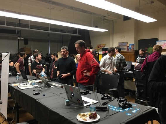 Photo: One of the rooms at the Game Arcade event at Bloomfield College Photo Credit: Esther Surden