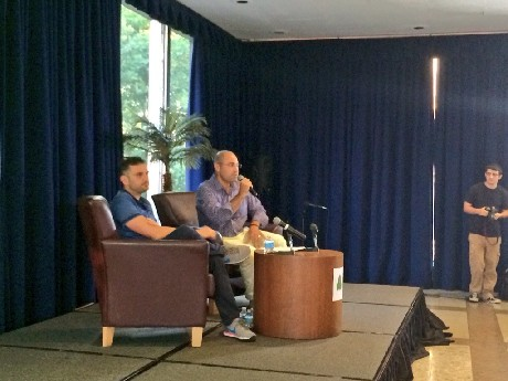 Photo: Aaron Price sat down to talk with Gary Vaynerchuk Photo Credit: Esther Surden
