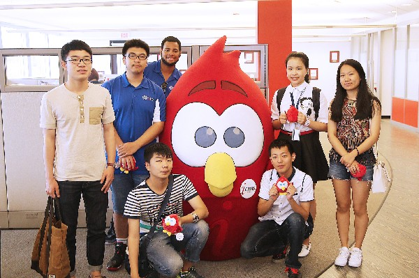 Photo: A group of students from China toured iCIMS this summer. Photo Credit: Courtesy iCIMS