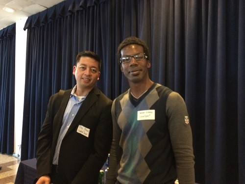 Photo: Guy Pineda, Creative Snap founder and Jason Webley of LivinSport both had good things to say about their meetings with investors. Photo Credit: Esther Surden