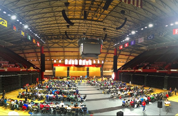 Photo: Main Hackspace for HackRU 2015 at the Rutgers Athletic Center Photo Credit: Courtesy Brendan Kaplan