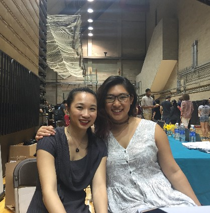Photo: Jade Yee and Michelle Chen, two organizers who produced HackRU 2015 Photo Credit: Brendan Kaplan