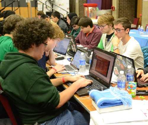 Photo: Nearly 800 hackers came to Rutger's University's  HackRU Oct. 11 to !2. Photo Credit: Marielle Sumergido