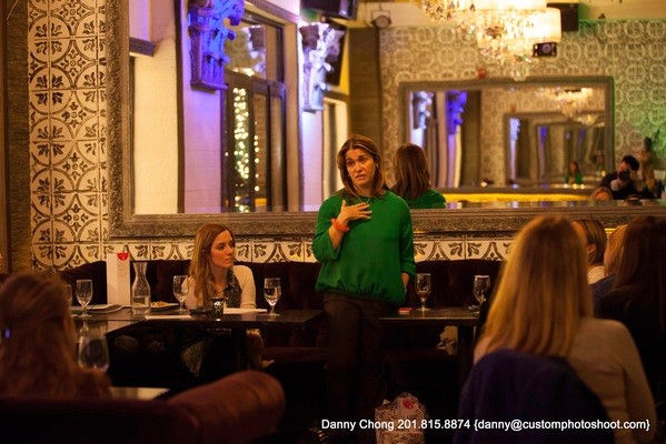 Photo: Heidi Messer answered questions at NJ Tech Gals meetup in March. Photo Credit: Danny@Customphotoshoot.com
