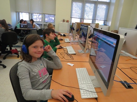 Photo: Children learned to code in the Highlands and Atlantic Highlands schools. Photo Credit: Henry Hudson Regional Schools