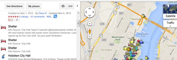 Photo: A screen shot of the Hoboken Sandy Maps site. Photo Credit: HSM