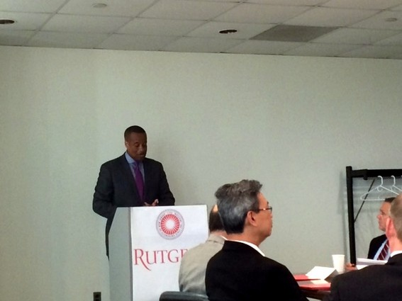 Photo: Jay Williams, assistant secretary of commerce for economic development, announced the Rutgers grant. Photo Credit: Esther Surden