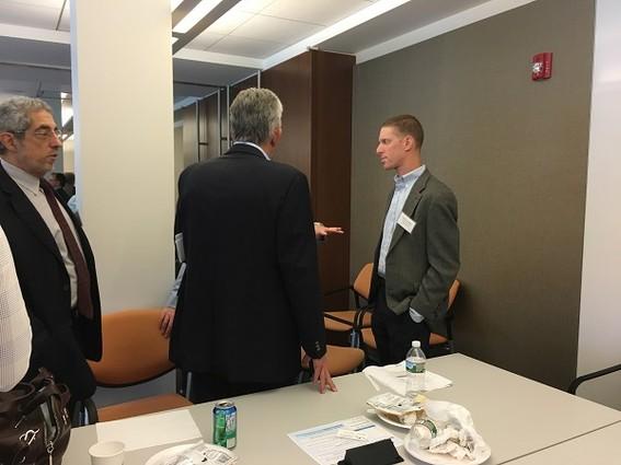 Photo: Jeff Snellenburg talks to investors. Photo Credit: Esther Surden