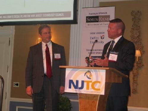 Photo: Kurt Anderson and Jim Bourke present the findings of the IT Industy Survey Photo Credit: NJTC