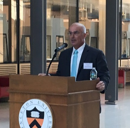 Photo: John Ritter of Princeton University gave introductory remarks. Photo Credit: Esther Surden