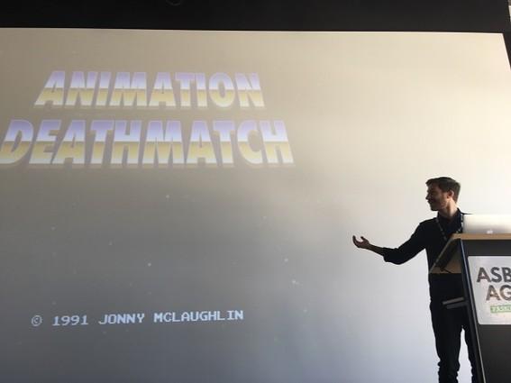 Photo: Jonny McLaughlin created an Annimation Deathmatch at Asbury Agile 2016. Photo Credit: Esther Surden
