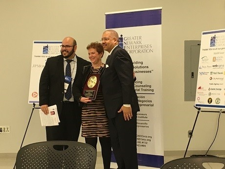 Photo: Judith Sheft receives an award at the 2015 GNEC Opportunities and Awards Breakfast Photo Credit: Esther Surden