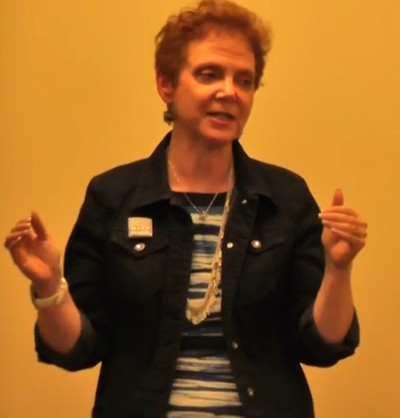 Photo: Judith Sheft spoke about networking at the meetup. Photo Credit: Andrew Hines