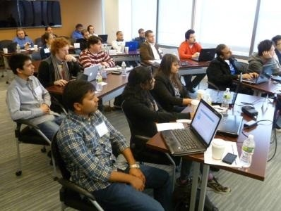 Photo: Students from area colleges participated in a network hackathon at Juniper's OpenLab. Photo Credit: Juniper