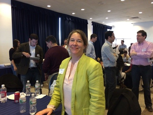 """Photo: Karen Van Blarcum said her meetings had been """"excellent."""" Photo Credit: Esther Surden"""