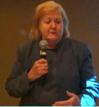 Photo: Jumpstart NJ's Katherine O'Neill spoke to the Venture Association of N.J. in December. Photo Credit: Esther Surden