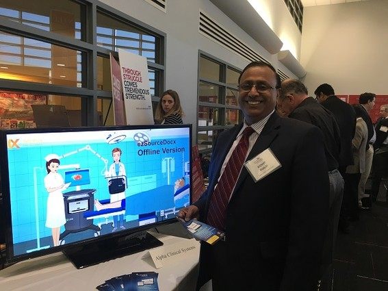 Photo: Koshy Philip of Alpha Clinical Systems Photo Credit: Esther Surden