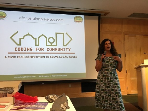 Photo:  Lauren Skowronski, program director for community engagement at Sustainable Jersey Photo Credit: Esther Surden